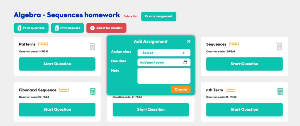 creating a GCSE Maths assignment for your students
